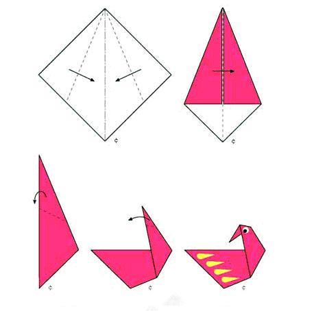 幼儿简单折纸步骤图风车